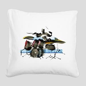 Drummer Square Canvas Pillow