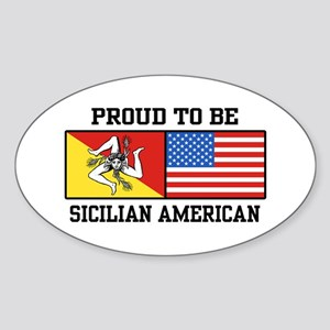 Sicilian American Oval Sticker