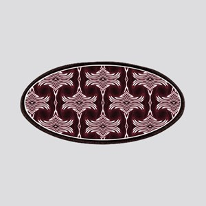 Maroon Art Deco Pattern Patches