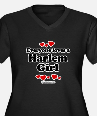 Everyone loves a Harlem girl Women's Plus Size V-N