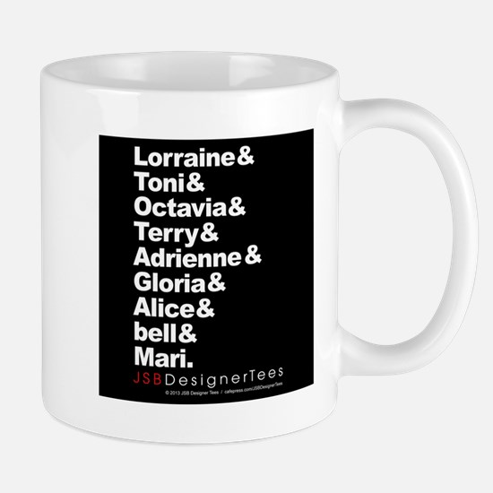 Lorraine & Blk W Writers Mug