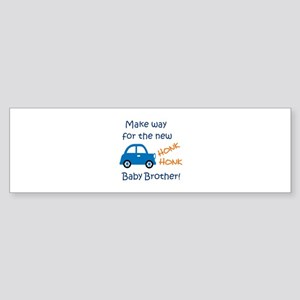 NEW BABY BROTHER Bumper Sticker