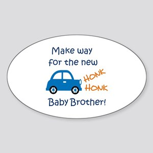 NEW BABY BROTHER Sticker