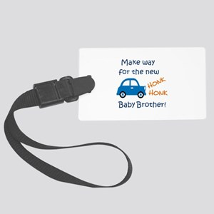 NEW BABY BROTHER Luggage Tag