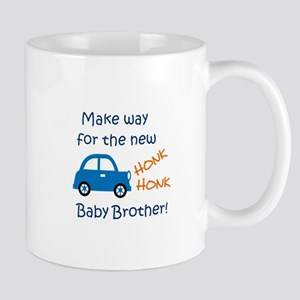 NEW BABY BROTHER Mugs