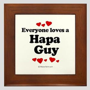 Everyone loves a Hapa guy Framed Tile