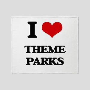 I love Theme Parks Throw Blanket