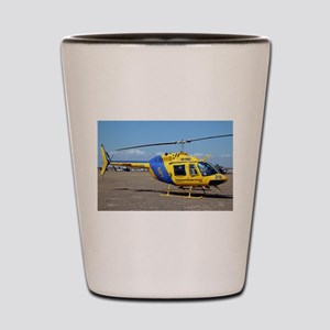Helicopter (blue & yellow) Shot Glass