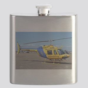 Helicopter (blue & yellow) Flask