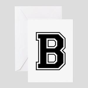 B-var black Greeting Cards