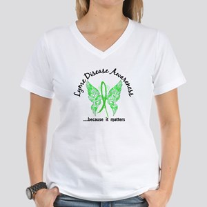 Lyme Disease Butterfly 6.1 Women's V-Neck T-Shirt