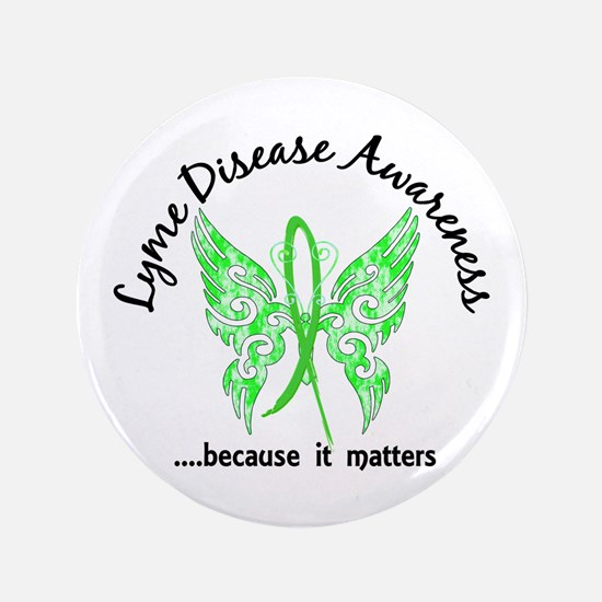 "Lyme Disease Butterfly 6.1 3.5"" Button"