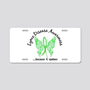 Lyme Disease Butterfly 6.1 Aluminum License Plate