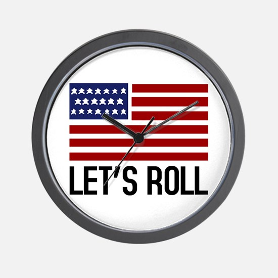 Let's Roll Wall Clock