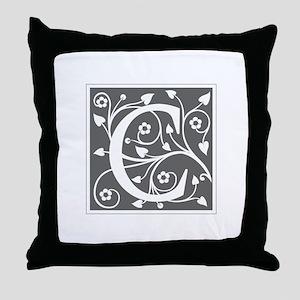 C-ana gray Throw Pillow