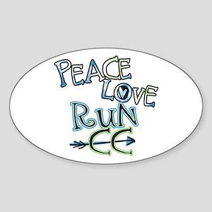 Peace Love Run CC Sticker