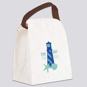 Away from Home Canvas Lunch Bag