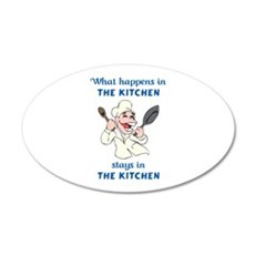 WHAT HAPPENS IN KITCHEN Wall Decal
