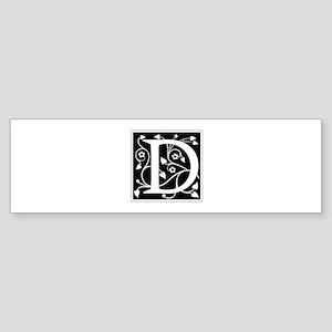 D-ana black Bumper Sticker