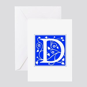 D-ana blue Greeting Cards