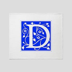 D-ana blue Throw Blanket