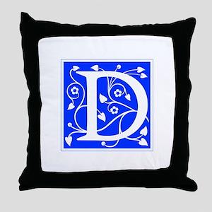 D-ana blue Throw Pillow