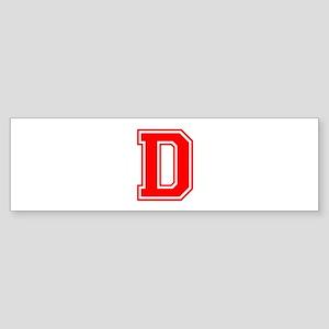 D-var red Bumper Sticker