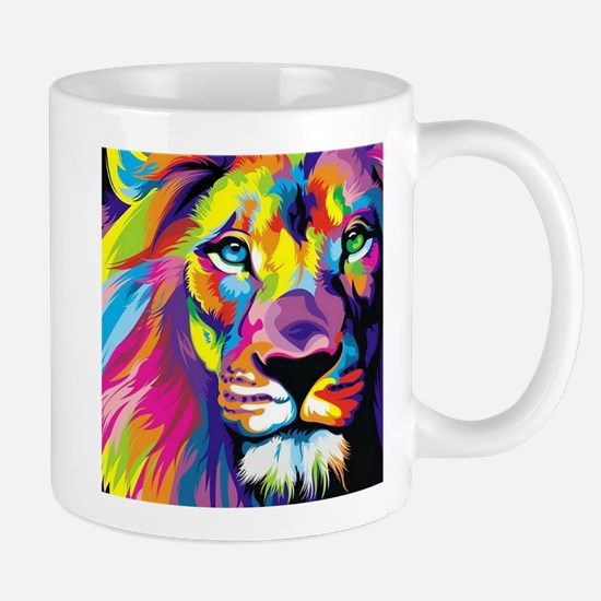 Leo the trippy lion Stainless Steel Travel Mugs