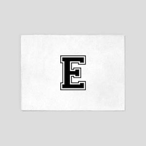 E-var black 5'x7'Area Rug