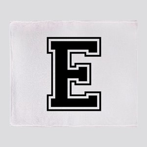 E-var black Throw Blanket