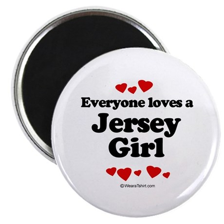 """Everyone loves a Jersey girl 2.25"""" Magnet (10 pack"""