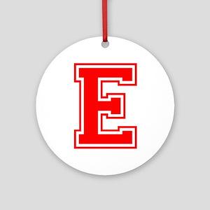 E-var red Ornament (Round)
