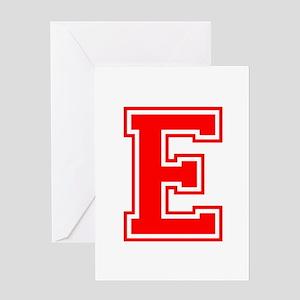 E-var red Greeting Cards