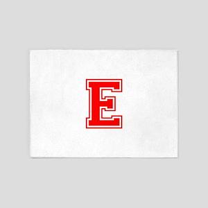 E-var red 5'x7'Area Rug