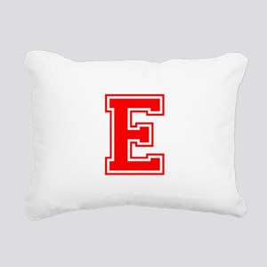 E-var red Rectangular Canvas Pillow