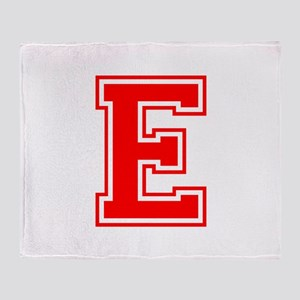 E-var red Throw Blanket
