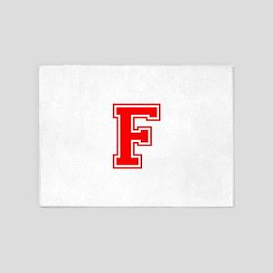F-var red 5'x7'Area Rug