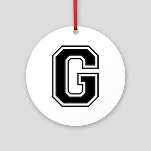 G-var black Ornament (Round)