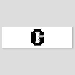 G-var black Bumper Sticker