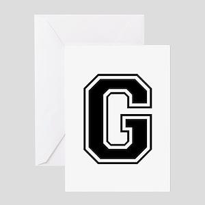 G-var black Greeting Cards