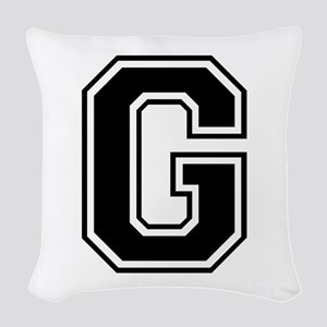 G-var black Woven Throw Pillow