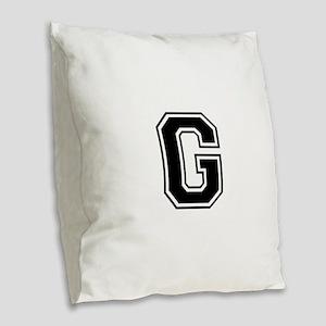 G-var black Burlap Throw Pillow