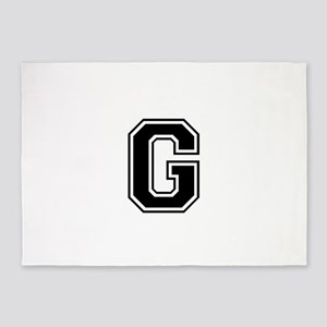 G-var black 5'x7'Area Rug