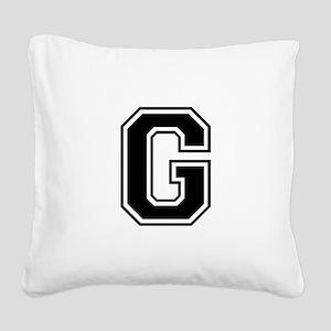 G-var black Square Canvas Pillow