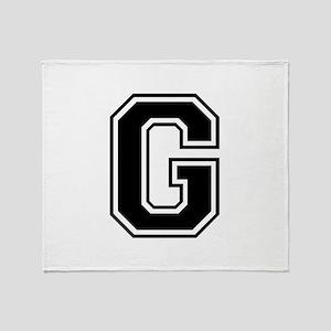 G-var black Throw Blanket
