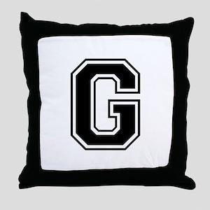 G-var black Throw Pillow