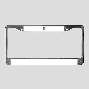 G-var red License Plate Frame
