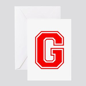 G-var red Greeting Cards