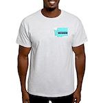 True Blue Washington LIBERAL - Ash Grey T-Shirt