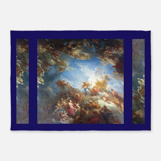 Blue Versailles 5'x7'area Rug